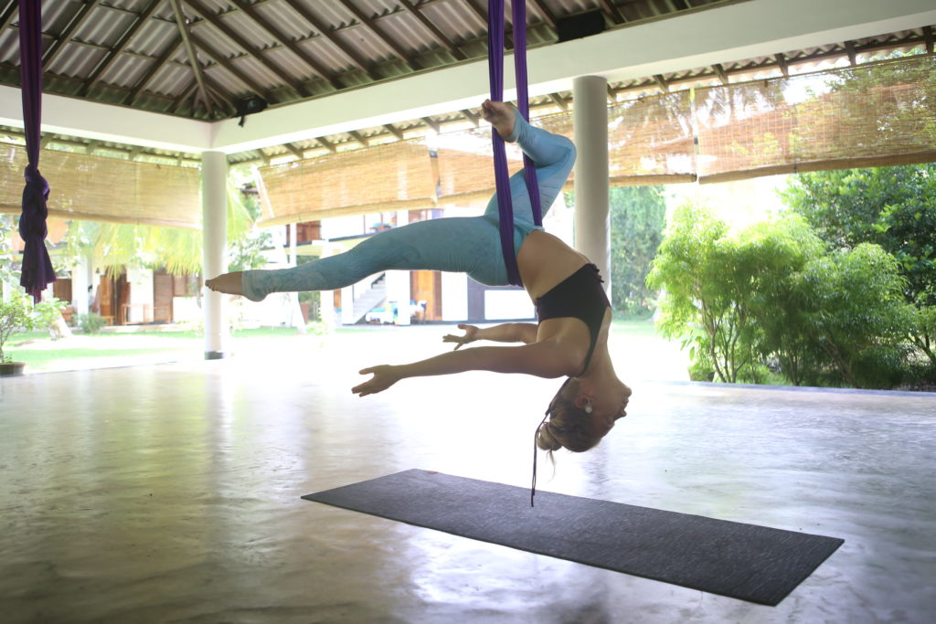 Lindsay Nova aerial yoga retreat sri lanka southeast asia thailand