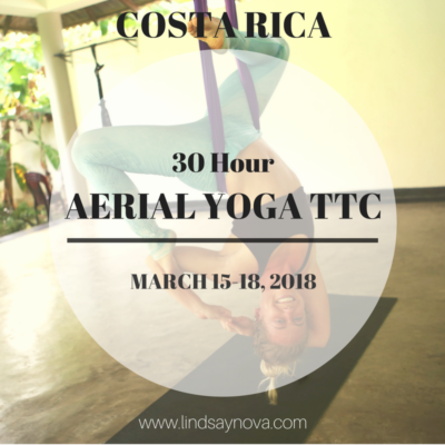 30-hour aerial yoga teacher training costa rica lindsay nova