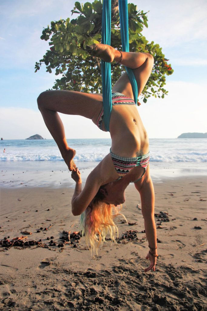 aerial yoga teacher training arambol goa india lindsay nova samata
