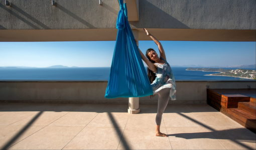 aerial yoga muse magic retreat greece lindsay nova