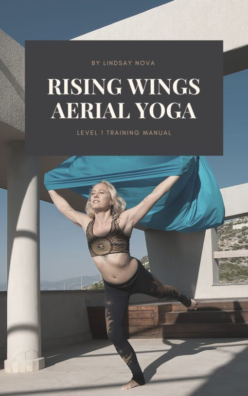 rising wings aerial yoga with lindsay nova training manual book